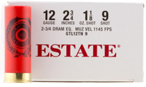 "Estate Dove and Target 12ga, 2.75"", 1-1/8oz, 9 Shot, 250rd/Case (10 Boxes of 25rd)"