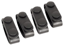 Blackhawk Belt Keeper Set of 4 Black Nylon