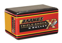 Barnes Triple-Shock X-Bullets Lead Free .30 Caliber .308 Diameter 165gr, Boattail, 50rd/Box