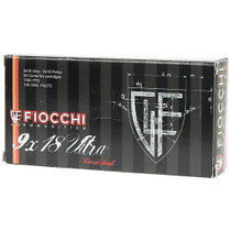 Fiocchi 9x18mm Ultra Police 100gr, Metal Case, 50rd Box (Not for use in 9x19mm Luger)