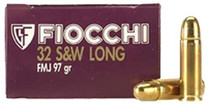 Fiocchi .32 SW Long, 97 Gr, FMJ, 50rd Box