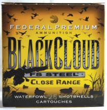 "Federal Premium Black Cloud Close Range 12 Ga, 3"", 1450 FPS, 1.25oz, 4 Shot, 25rd/Box"