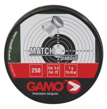 Gamo Match Pellets .22 Caliber Flat Nose 250 Per Tin
