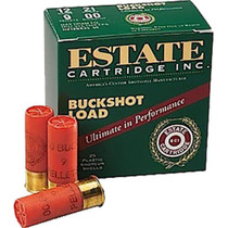 "Estate Buckshot 12 Ga, 2.75"", 00 Buckshot, 9 Pellets, 25rd/Box, 10/Case"