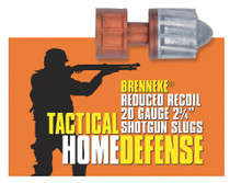"Brenneke 2002925 Tact Home Defense 20ga Rifled Lead 2.75"" 3/4oz Slug 5 Bx/50Cs"