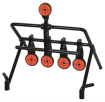 Birchwood Casey Xpert .22 Rimfire Resetting Target Solid Steel Four 1.75 Inch Hanging Targets And One Resetting Paddle