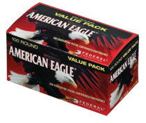 Federal American Eagle .40 Smith & Wesson 180 Grain Full Metal Jacket 100 Rounds Per Box