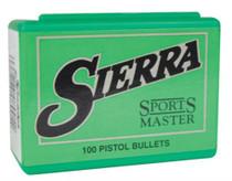 Sierra .38 Caliber, .357 Diameter, 158 Gr, Sports Master Jacketed Bullet, 100 per box