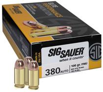 Sig Ammo 380ACP 100gr, FMJ, 50rd/Box, 20 Box/Case