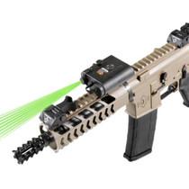 "LaserLyte Kryptonyte CM Dual Lens Laser Green AK/AR/Any 3"" Rail Black"