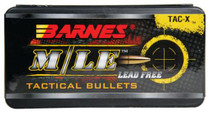 Barnes Tac-X Rifle Bullets Lead Free .223 Caliber/5.56Mm Diameter 62 Grain 1:9 Inch Twist Or Faster Recommended Boattail