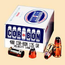 Cor-Bon Self Defense .400 135 Gr, Jacketed Hollow Point, 20rd Box
