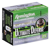 Remington Ultimate Home Defense .38 Special +P 125 Grain Brass Jacketed Hollow Point 20rd/Box