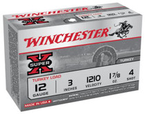 "Winchester Super-X Turkey 12 Ga, 3"", 1210 FPS, 1.875oz, 4 Shot Copper Plated, 10rd/Box"