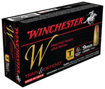 Winchester W Train 9mm 147 Gr, FMJ, 50rd Box