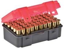 Plano Molding Flip Top Handgun Ammo Case 50rd .38 Special/.38 S&W/.357 Magnum Gray/Rose