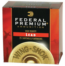 "Federal Premium Wing-Shok High Velocity Lead 12ga, 2.75"", 1-3/8oz, 5 Shot, 25rd/Box"
