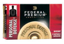 "Federal Premium Personal Defense 12 Ga, 2.75"", 1145 FPS, 9 Pellets, 00 Buckshot,, 5rd/Box"