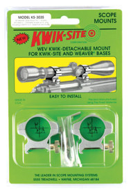 Kwik-Site Weaver Style Rings Medium to 44mm Objective Stainless