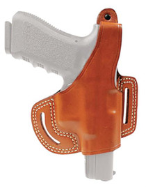 Blackhawk Leather Belt Slide Holster With Thumb Break Brown Right Hand For Springfield XDM/XD/XD Compact