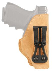 Blackhawk Tuckable IWB Holster, LH, Tan Leather, Full Size Autos, Glock 20, 21