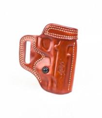 Kimber 1911 4-inch Avenger holster tan leather tension screw Kimber logo