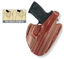 Gould and Goodrich Three Slot Pancake Holster Chestnut Brown Fits Springfield XD4 9MM
