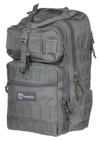 "Drago Atlus Sling Pack Backpack Tactical 600D Polyester 19""x11""x10"" Grey"