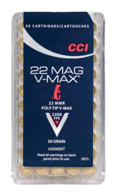 CCI Varmint Stinger .22 Mag 30 Grain V-Max, 50rd/Box