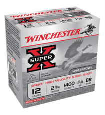 "Winchester Super-X Xpert Steel Waterfowl Load12 Ga, 2.75"", 1400 FPS, 1.125oz, BB Steel Shot, 25rd/Box"