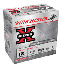 "Winchester Super-X Heavy Game Load12 Ga, 2.75"", 1255 FPS, 1.125oz, 6 Shot, 250rd/Case (10 Boxes)"