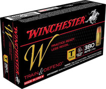 Winchester W Train .380 Acp 95gr, Full Metal Jacket 50rd Box