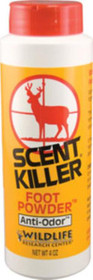 Wildlife Research Scent Foot Powder Human Odor Eliminating 4 oz
