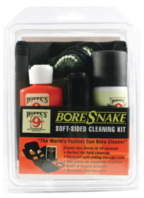 Hoppe's BoreSnake Soft-Sided Gun Cleaning Kit, .22 Caliber Centerfire and Rimfire Rifle, Includes BoreSnake, Solvent, Oil, Weatherguard Cloths, and Puller Tool