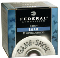 "Federal Game-Shok High Brass Lead 410 Ga, 2.5"", 1/2oz, 6 Shot, 25rd/Box"