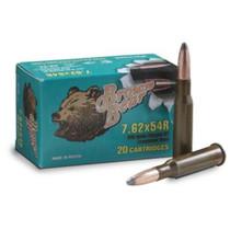Brown Bear 7.62x54R 203gr, Softpoint NC Steel Case, 20rds/Box