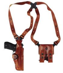"""Galco Vertical Shoulder 1911 5"""" Adjustable Tan Leather"""