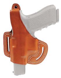 Blackhawk Leather Belt Slide Holster With Thumb Break Brown Left Hand For Glock 9mm/.40/.357/Model 36