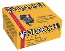 "Fiocchi Turkey Nickel Plated 12 Ga, 3"", 1-3/4oz, 4 Shot, 10rd/Box"