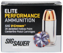 Sig Ammo 45 Long Colt 230Gr Elite V-Crown JHP, 20rd/Box