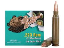 Brown Bear, .223 Rem, 55 Gr, FMJ, Bimetal, 20rd Box