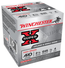 "Winchester Super-X High Brass 410 ga 2.5"" 1/2 oz 4 Shot 25Box/10Case"