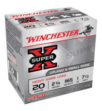 "Winchester Super-X Heavy Game Load 20 Ga, 2.75"", 1165 FPS, 1 oz, 7.5 Shot, 25rd/Box"