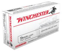 Winchester 9mm, 147 Gr, JHP, 50rd/Box
