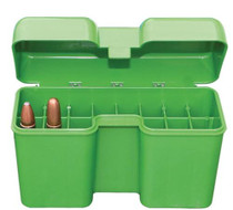 MTM Molded Product Case Gard Flip-Top Ammo Box .338 Rem UM/.416 Rigby, Green