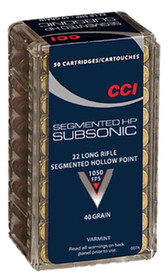 CCI Gamepoint 22LR, Segmented Hollow Point, 40 Gr, 50rd/Box