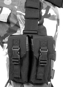BlackHawk Omega Elite M-16 Drop Leg Pouch, Black