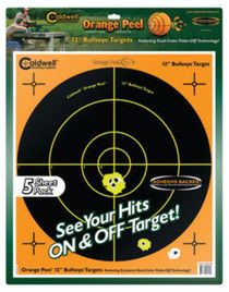 "Battenfeld Caldwell Orange Peel Flake Off Shooting Targets 12"" Bullseye, 5 Sheets"