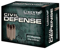 Liberty Civil Defense 357 Magnum 50 gr, LF Fragmenting HP 20rd Box