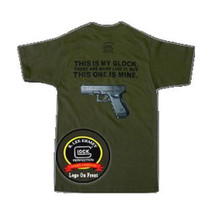 Glock My Glock T-Shirt Small Short Sleeve Olive Drab Cotton